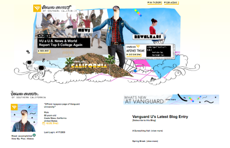 Vanguard U MySpace