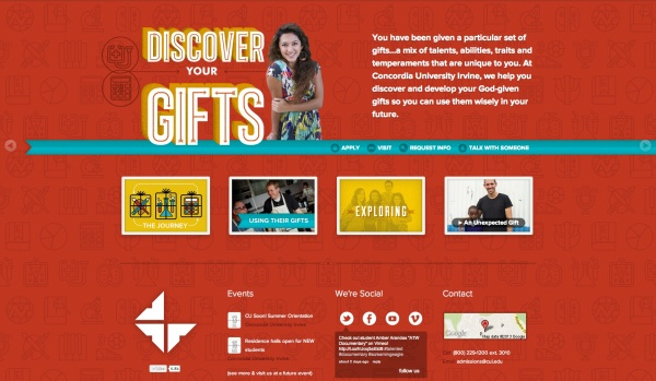 CUI Adm Microsite Discovering Your Gifts